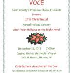 Christmas Concert Dec 2013