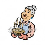 Granny_Holding_a_Freshly_Baked_Pie_Royalty_Free_Clipart_Picture_081109-000105-124042